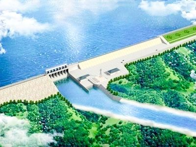 バッタンバンダム建設98%完了