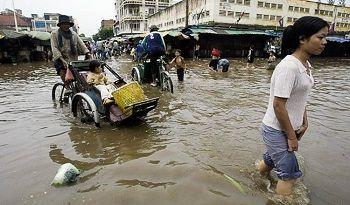 カンボジア、火曜日から木曜日にかけ豪雨に注意
