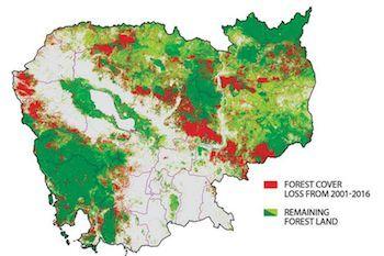カンボジア、日本にカンボジアの森林を衛星画像で地図化する支援を要求